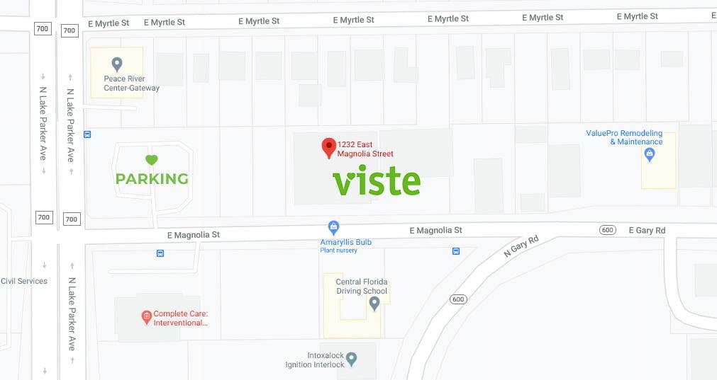 VISTE Parking Map