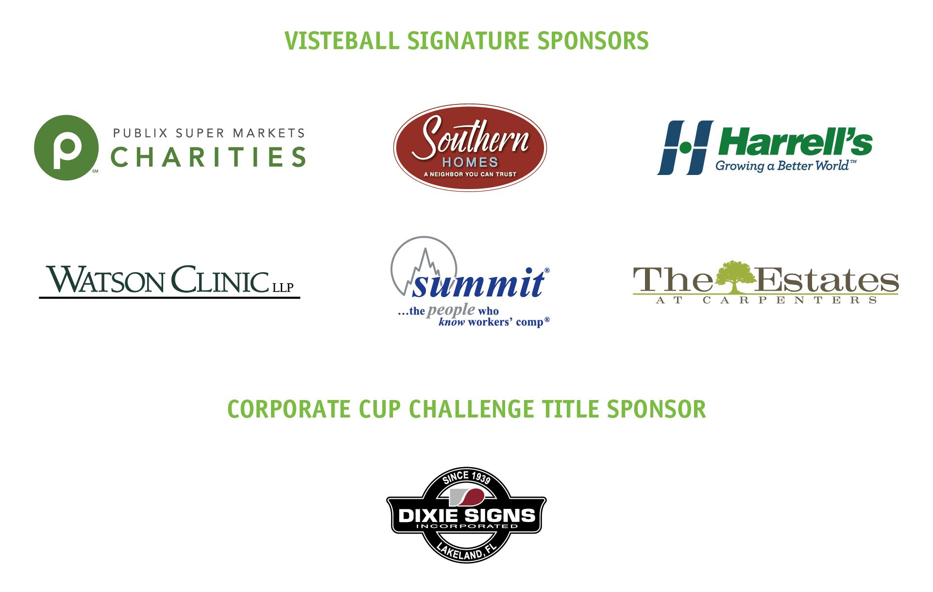 VISTEBall Signature Sponsors